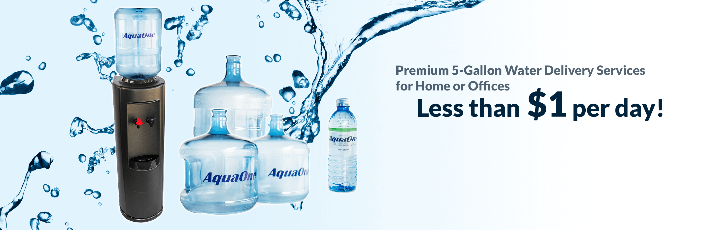 Premium 5-Gallon Water Delivery Services for Home or Offices for less than grocery store prices from Aquaone Lubbock tx, Amarillo tx, wichita falls tx, Abilene tx